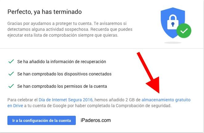 Google Drive 2 gigas gratis 5