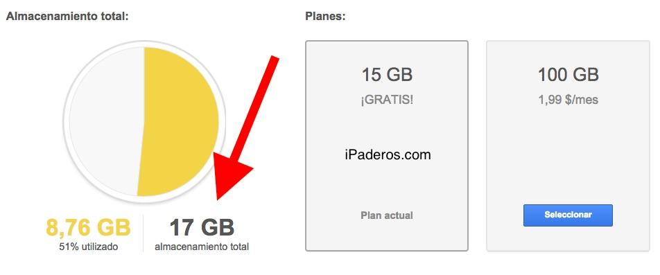 Google Drive 2 gigas gratis 6