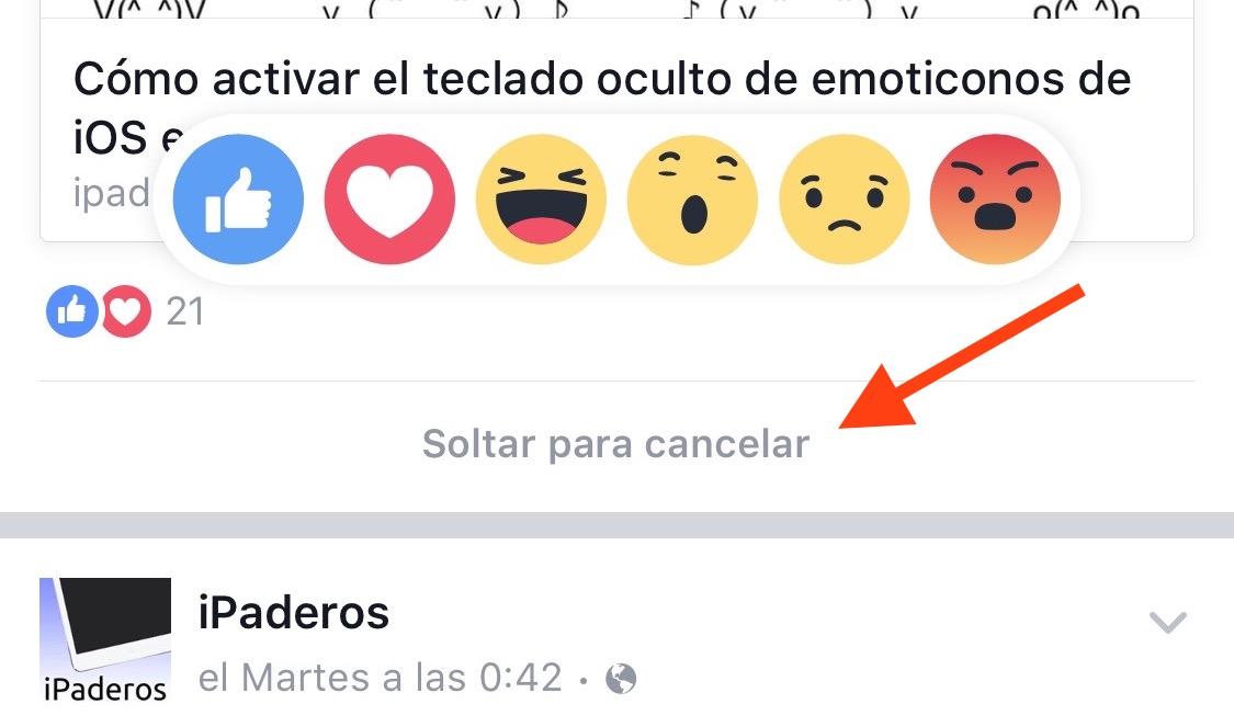 Reacción Facebook todas