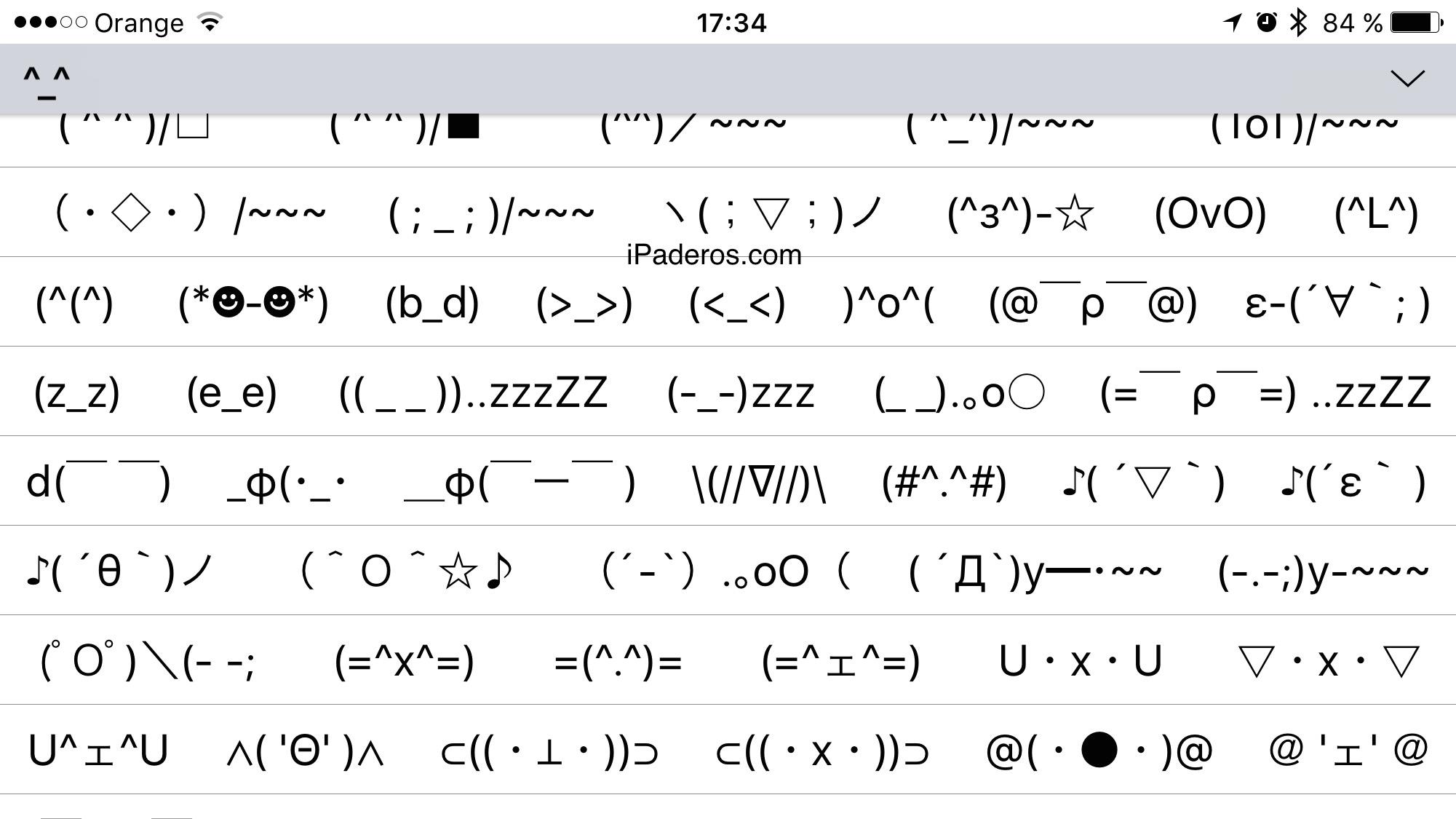 Teclado emotionos iOS oculto  7
