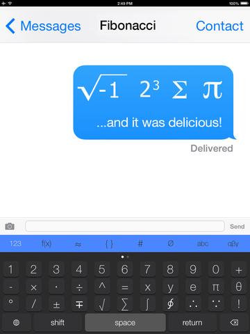 The Math Keyboard