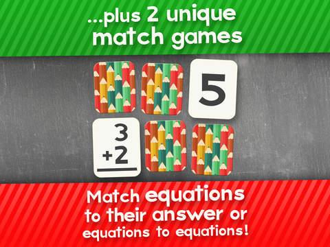 Suma Flashcard Juego Match para niños