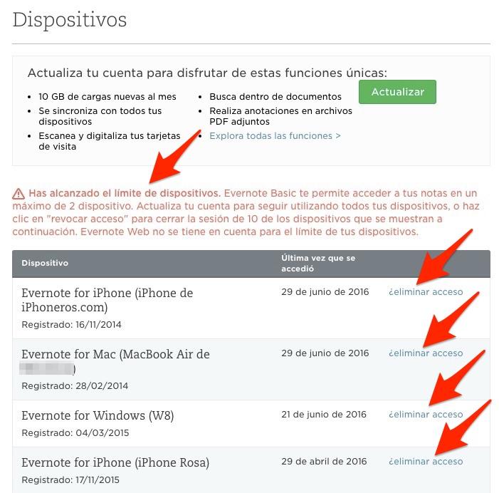 Evernote_eliminar_dispositivos