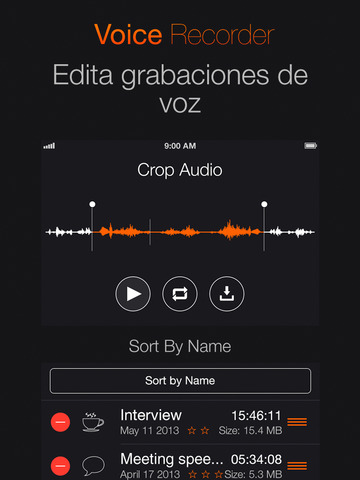 Grabador de voz Pro