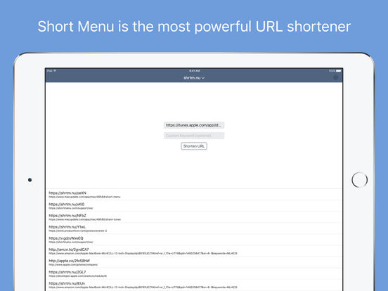 short-menu