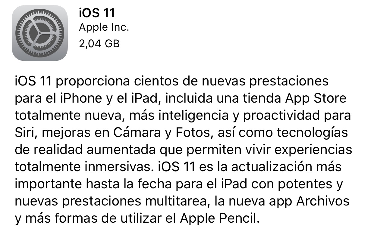iOS 11 ya disponible