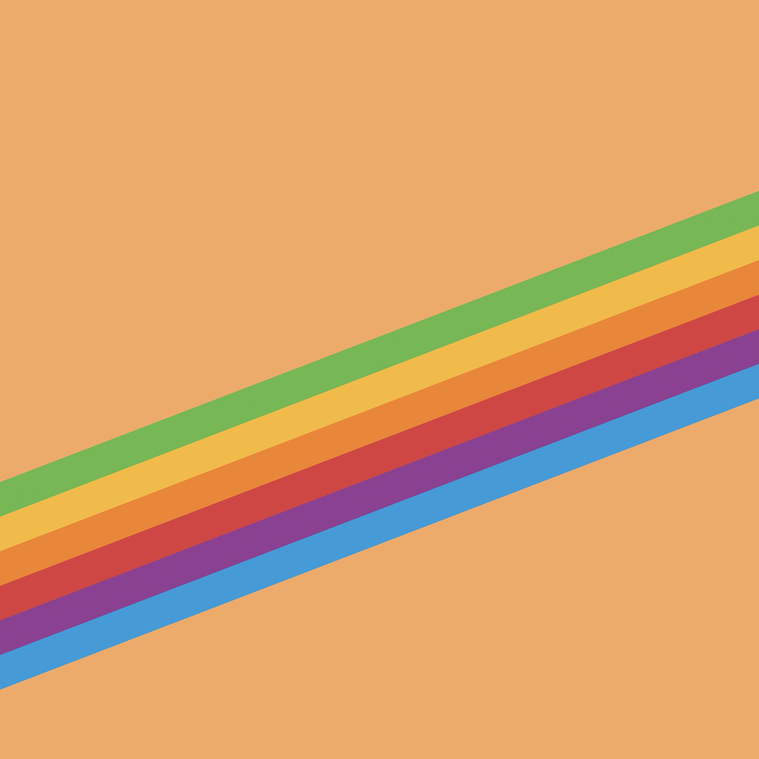 Fondo de pantalla con el arcoíris de Apple en iOS 11