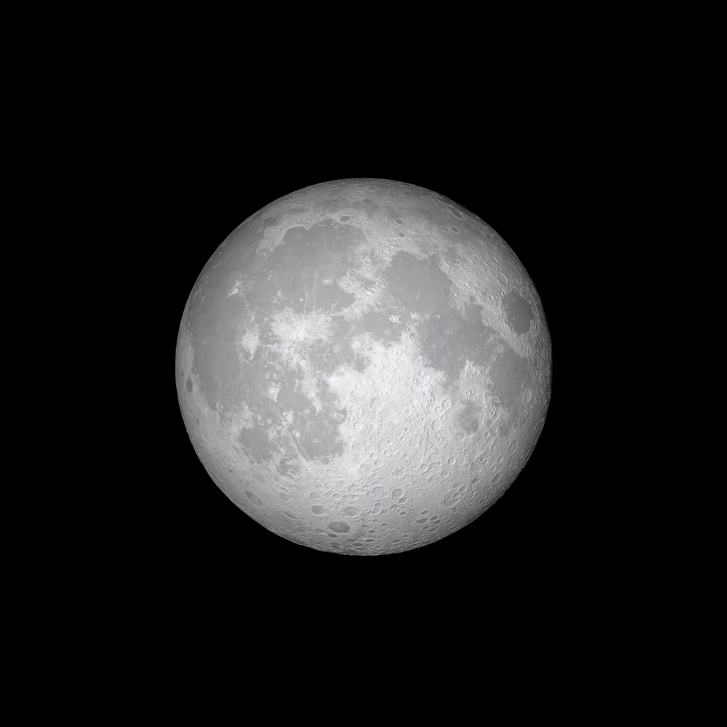 Fondo de pantalla de La Luna en iOS 11