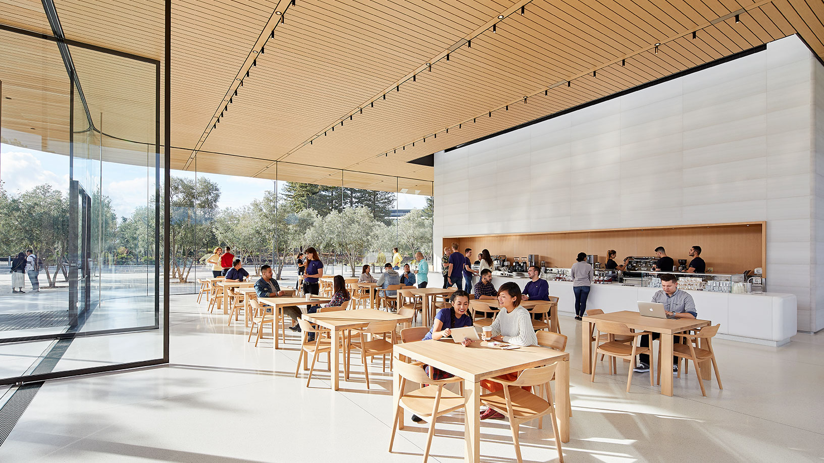 Cafetería del Visitor Center del Apple Park