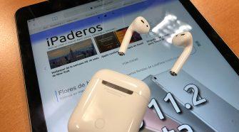 iPad Pro y AirPods con iPaderos.com abierto