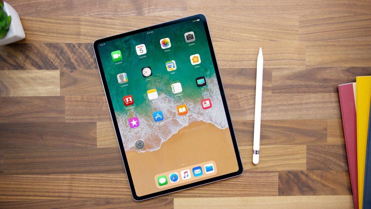 Concepto de diseño de Benjamin Geskin de cómo sería un iPad Pro con Face ID