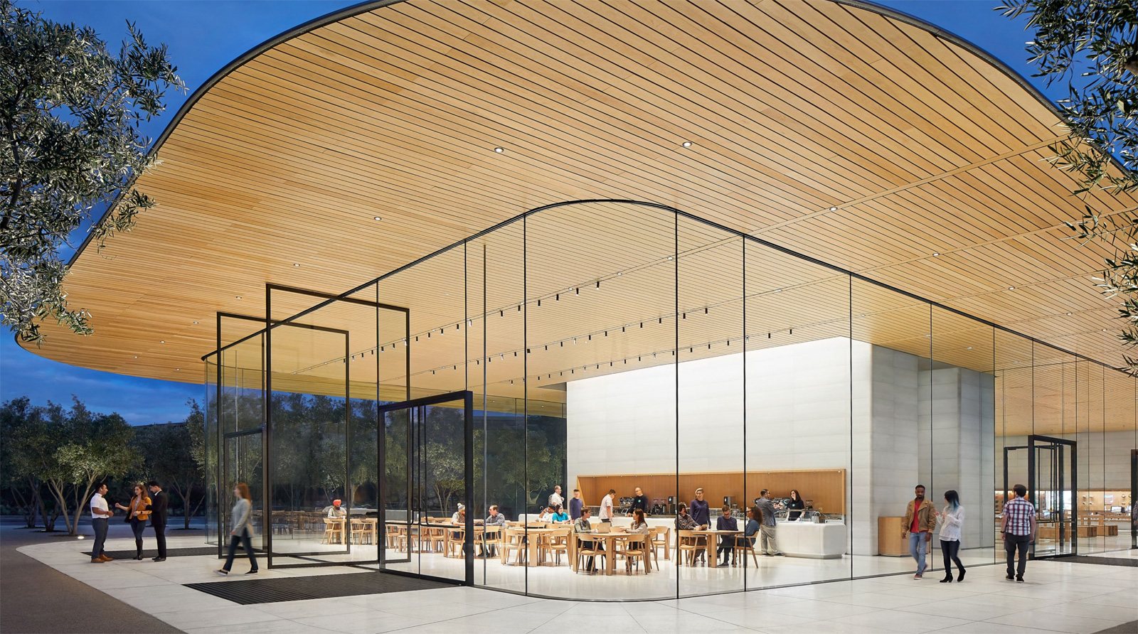 Techo del Visitor Center del Apple Park