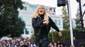 Gwen Stefani cantando Cupertino