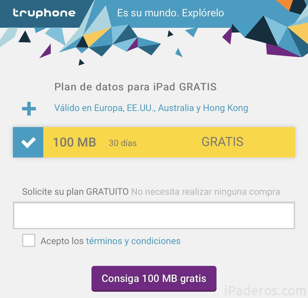 Tarifa de datos gratuitos de Truephone