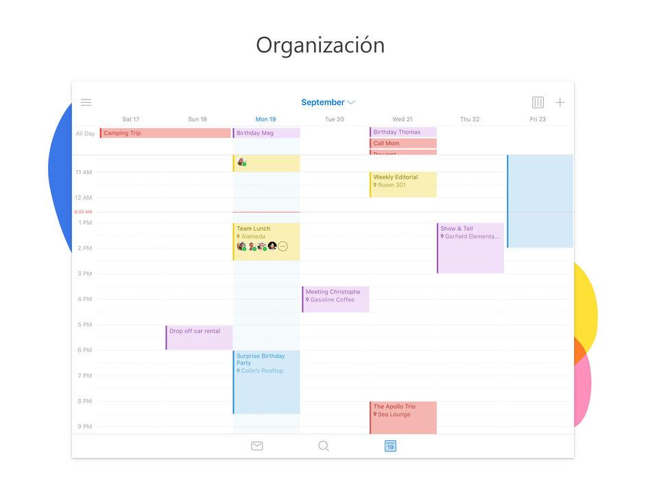 Calendario de Outlook en el iPad