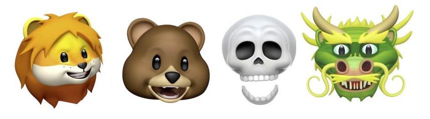 Los cuatro nuevos Animojis de iOS 11.3