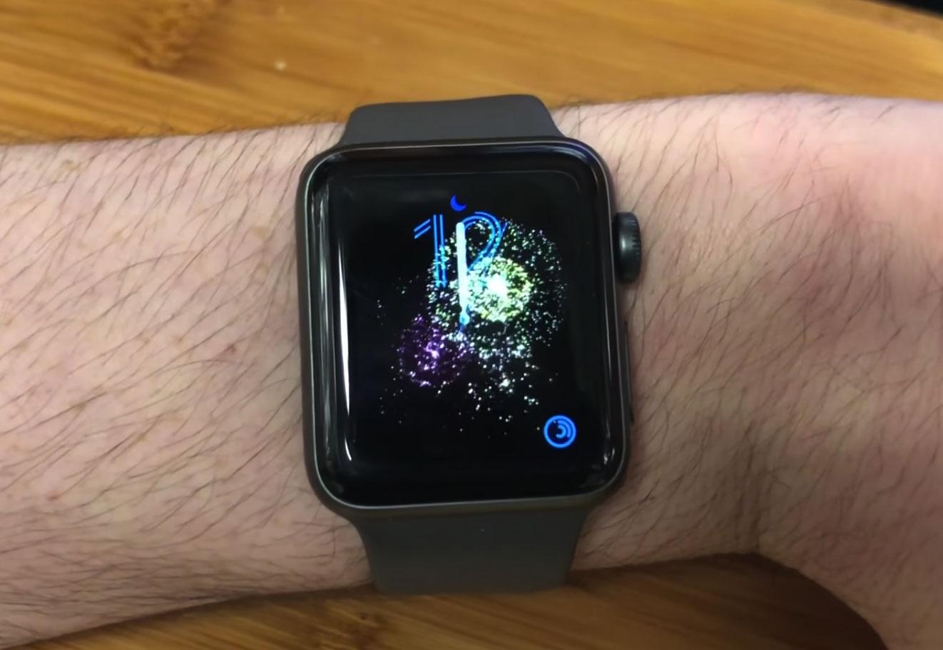 Fuegos artificiales en el Apple Watch