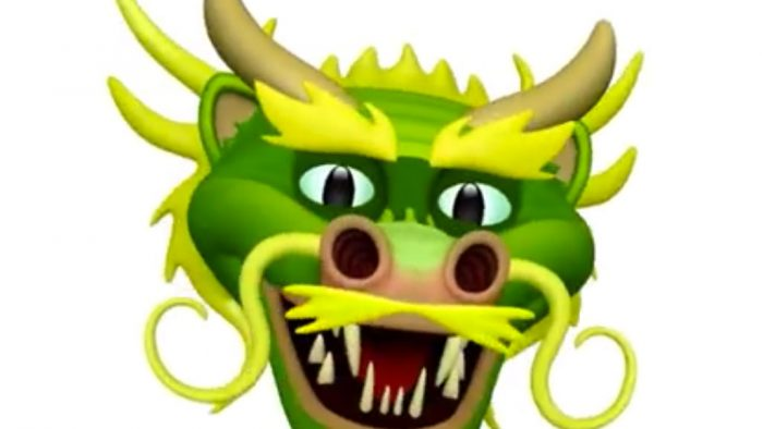 Animoji de dragón en iOS 11.3
