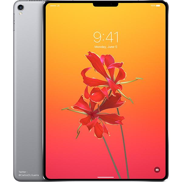 Concepto de diseño de iPad Pro con Face ID