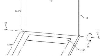 Gráfico de la patente de Apple con una doble pantalla