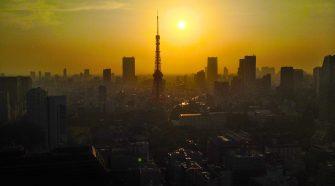 Puesta de sol en Tokio