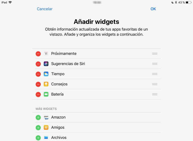 Widgets iPad