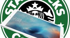 iPad y logo de Starbucks