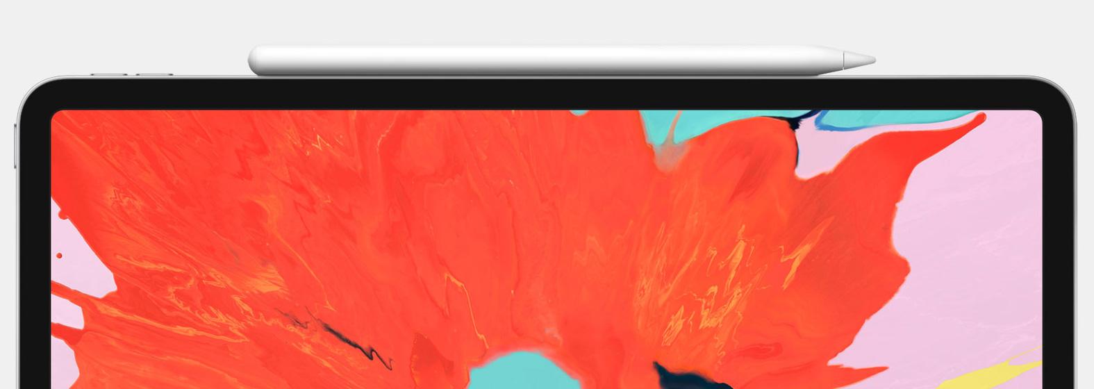 Nuevo Apple Pencil cargando en el iPad Pro todo pantalla