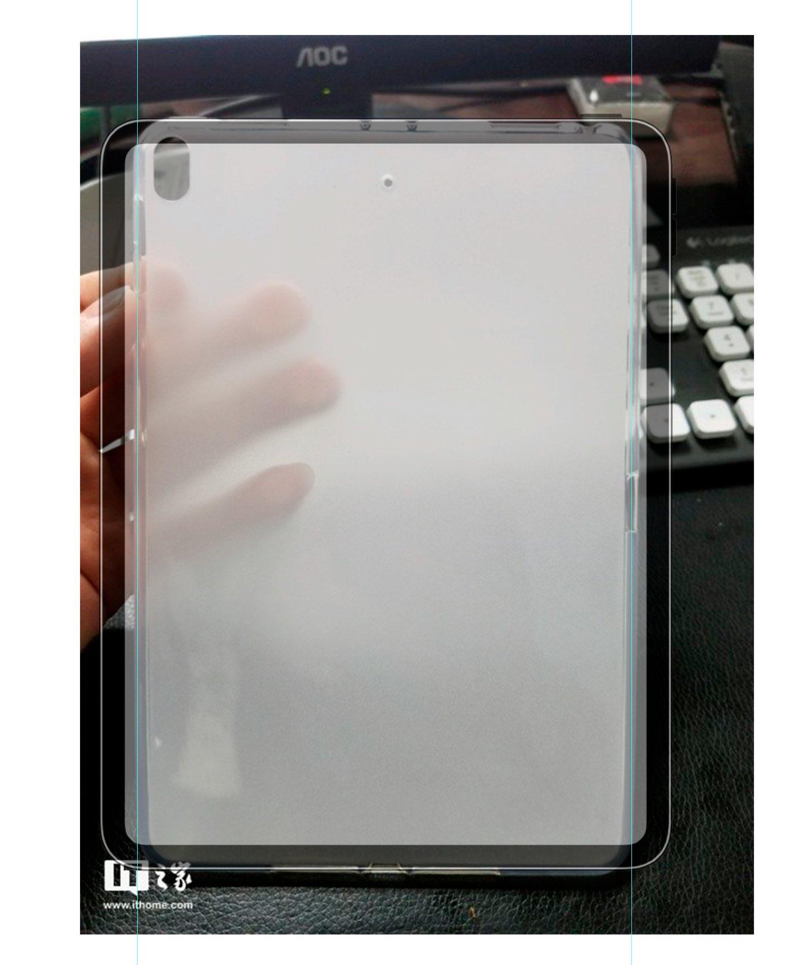 Aspecto de la pantalla sobre la supuesta funda del iPad mini 5