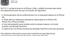 iOS 12.1.1 en iPaderos