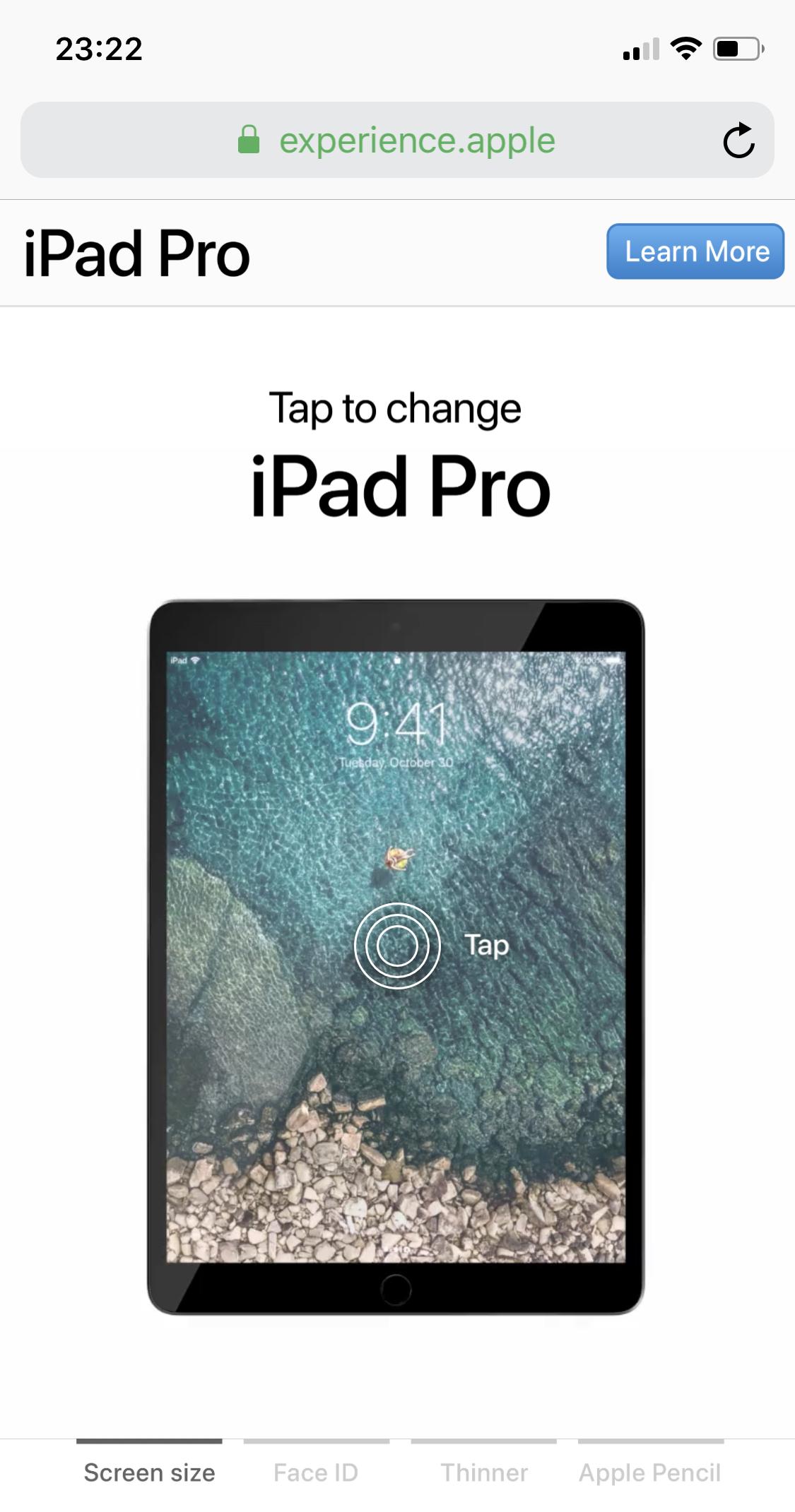 Web de Apple sobre el iPad Pro