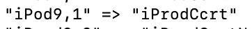 Mención a iPod9,1 en iOS 12.2