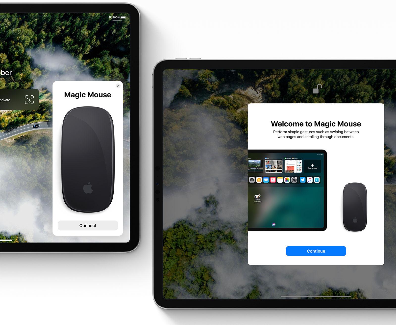 Concepto de diseño de iOS 13 en el iPad por Léo Vallet