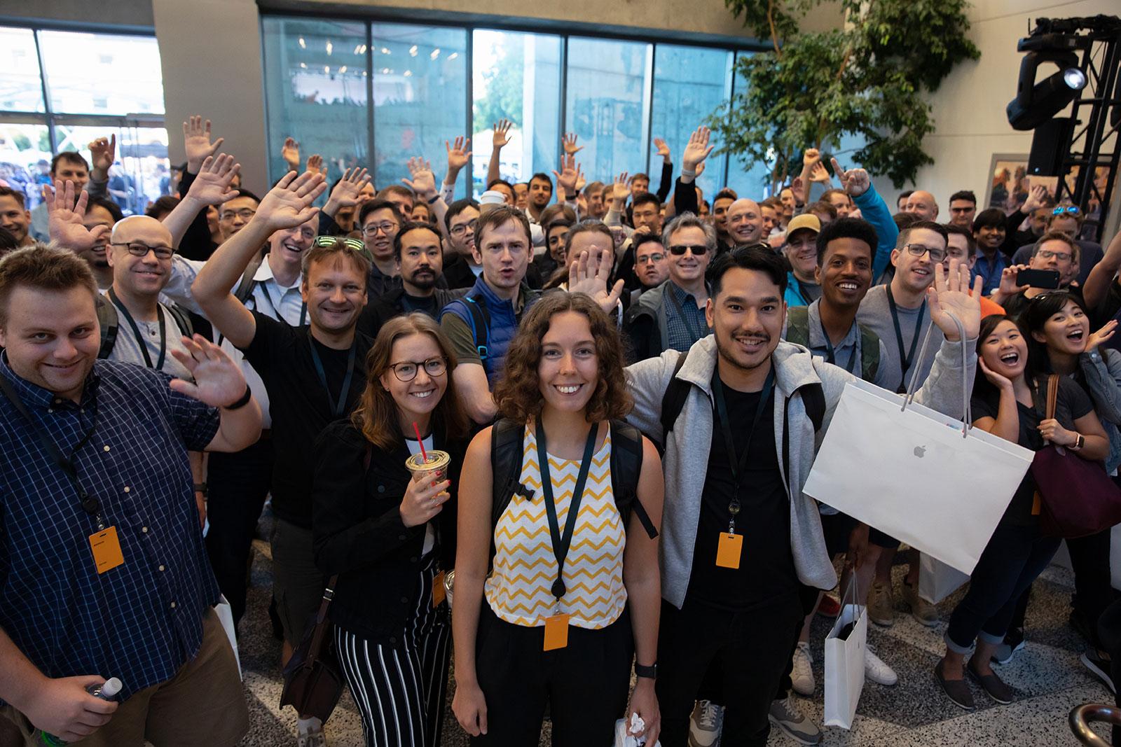 Desarrolladores felices en la WWDC