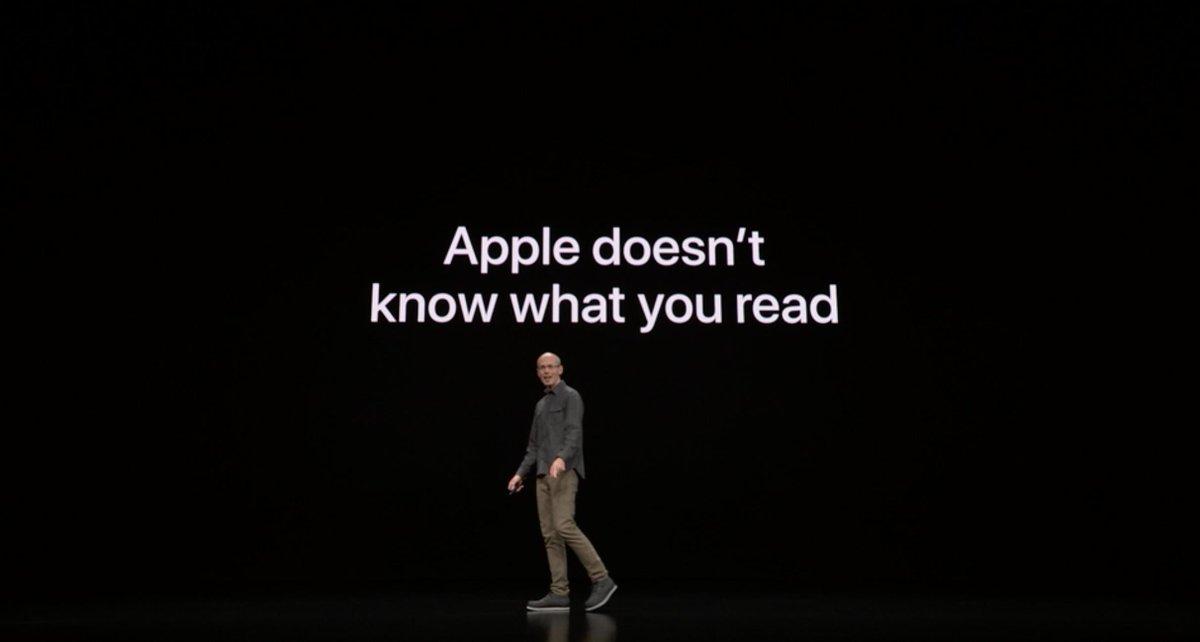Apple no sabe lo que estás leyendo