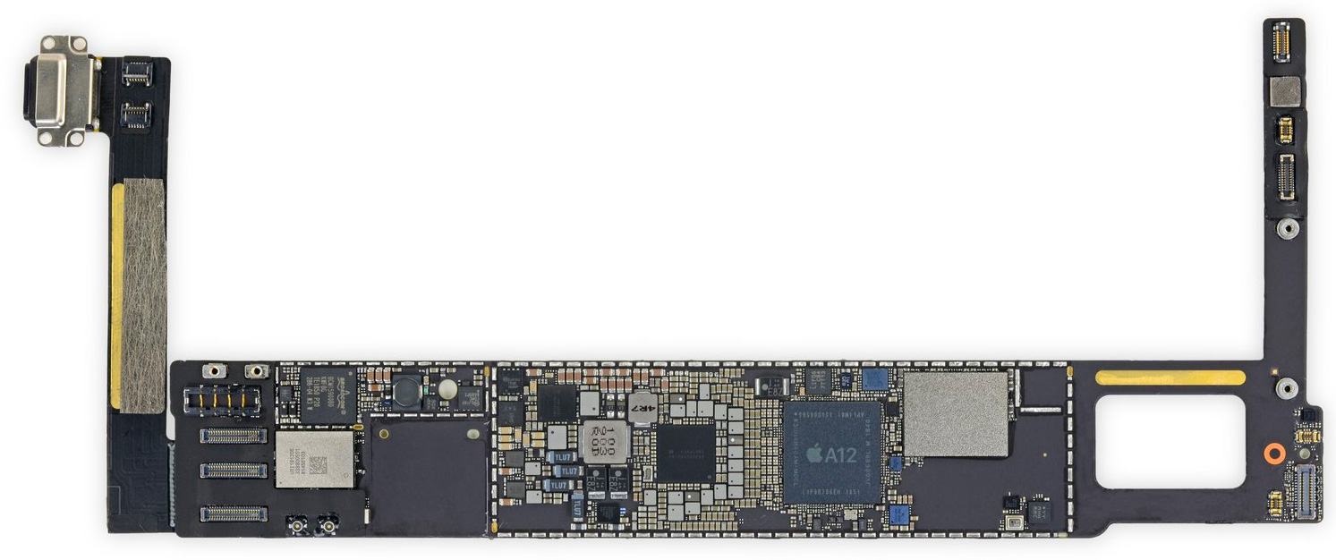 Placa base del iPad mini 5 con el A12