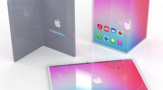 Concepto de diseño de iPad que se dobla