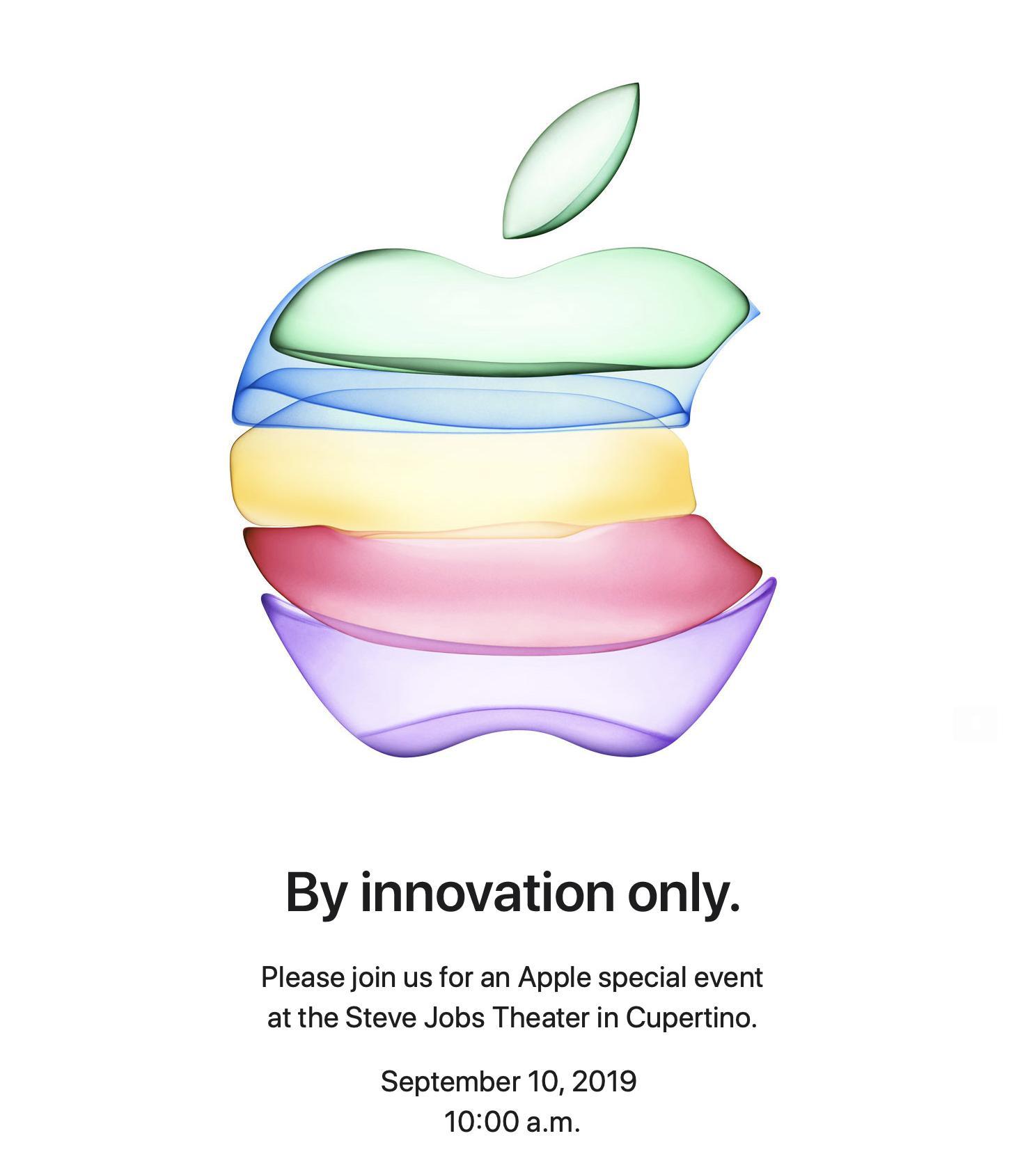 Invitación de Apple para el evento de presentación del iPhone 11