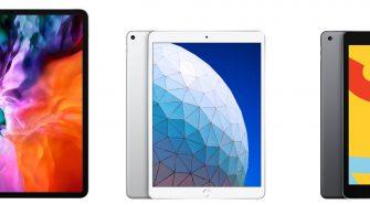 Diferentes modelos de iPad