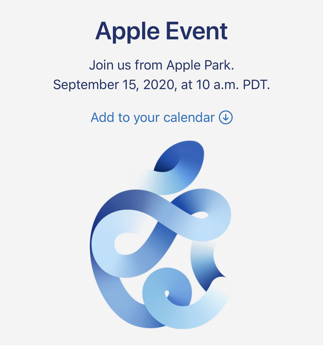 Evento Apple Time Flies