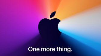 One More Thing y logo de Apple